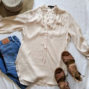 Love Culture Silky Cream Button down Blouse